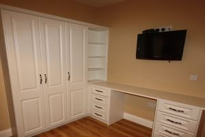 built in wardrobe with shelves and study desk - Built In Wardrobe