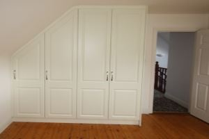Ivory Angled Roof Bedroom Wardrobe